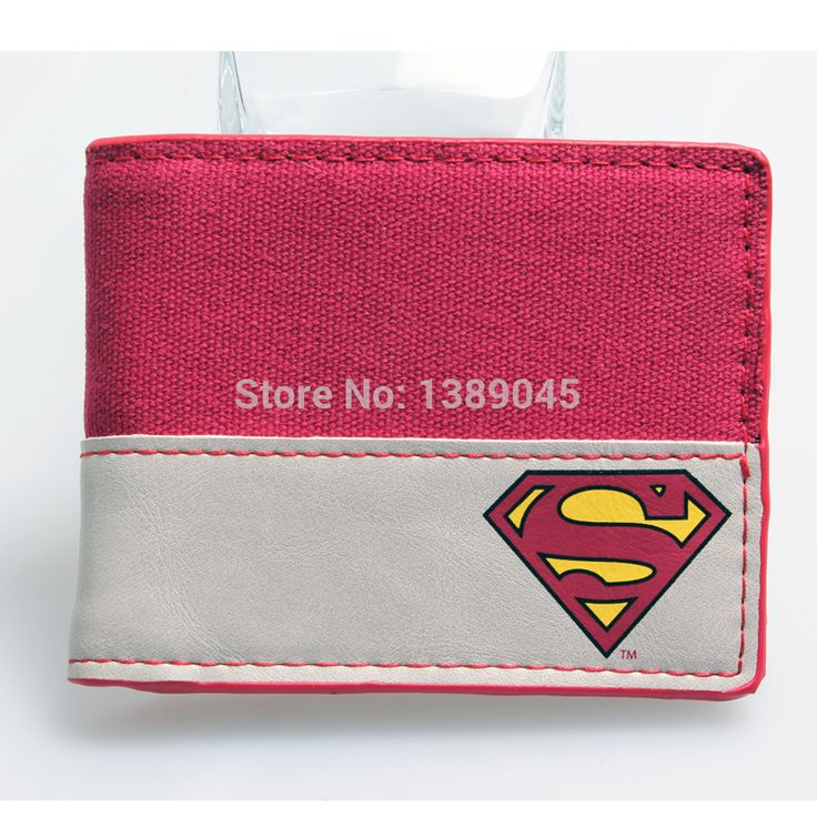 Seen superman animated cartoon wallet purse Young students wallet purse personality Blue superman's wallet  PU DFT-1086