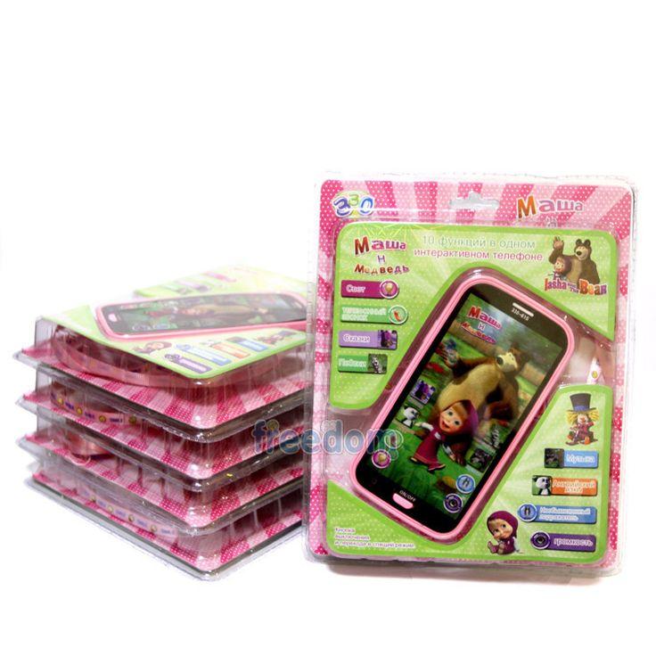Новогодние подарки маша и медведь говоря музыкальные электронные игрушки русский язык марта MobilePhone интерактивная игрушка малыша