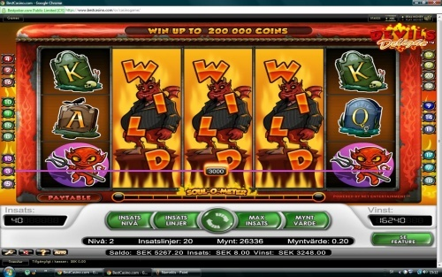 406x total bet win on Net Entertainment slot Devils delight!  You can find hundreds of Big Win pictures and more videos here: http://www.bigwinpictures.com