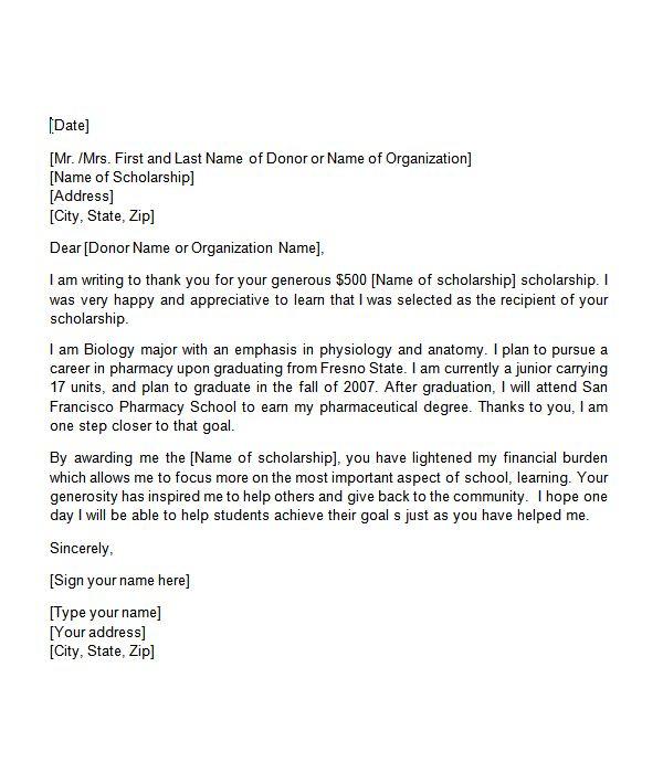 91 Nurse Scholarship Available: Sample Thank You Letter For Nursing Scholarship