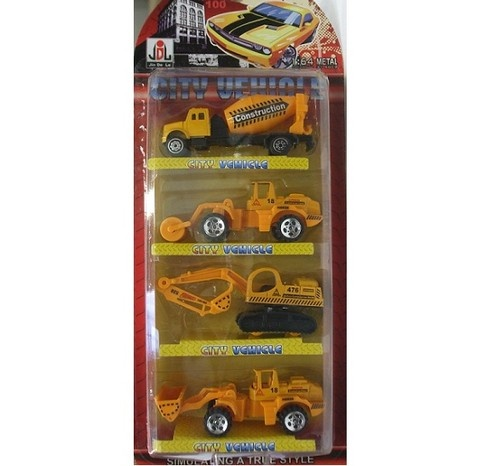 Construction Vehicle Toys For Boys : Die cast toy digger construction vehicles pack boys kids