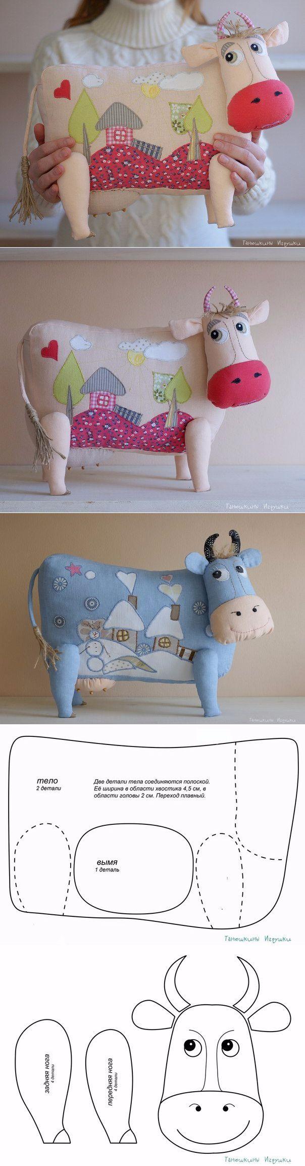 Vaca de tela pintada, una idea muy original