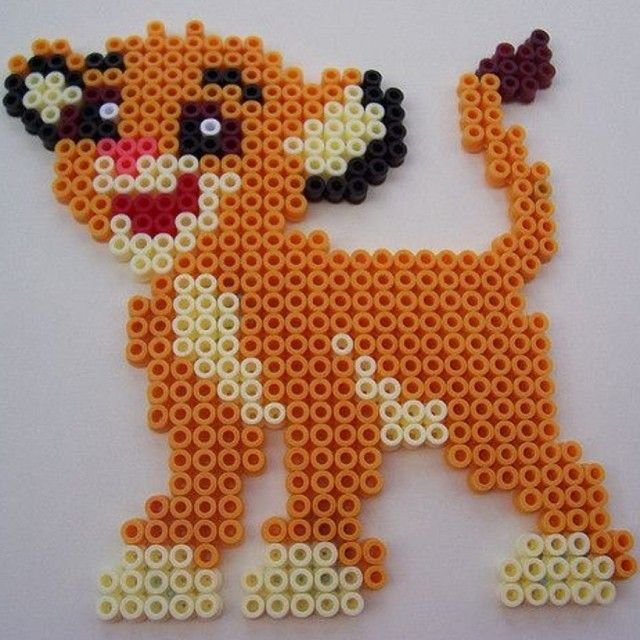 Simba Lion King perler beads by socraftastic_girl