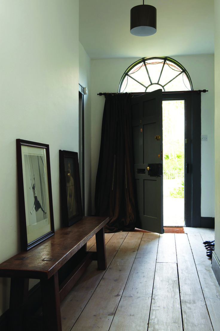 F&B downpipe and Winbourne white. Want to have similar door drapes for front hall.