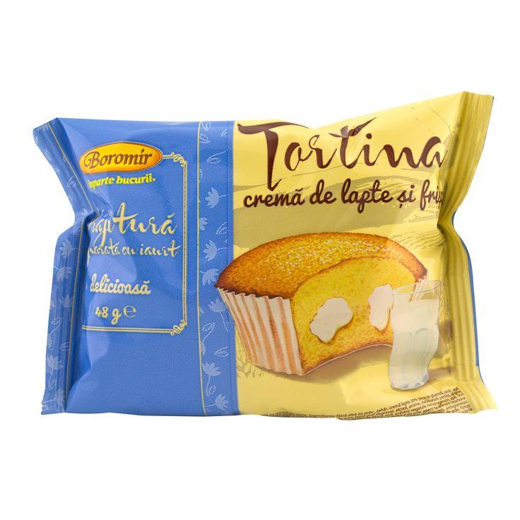 Tortina cu crema de lapte 48g Boromir