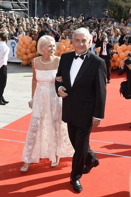 Miroslav Donutil s manželkou Zuzanou