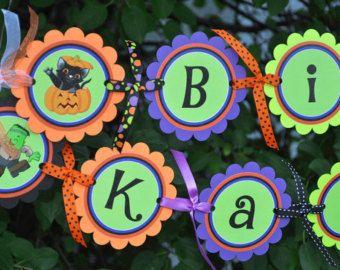 halloween happy birthday banner halloween or birthday party decorations