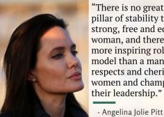 Angelina Jolie's Powerful Speech On What Women Really Need From Men