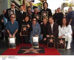 Steve Augeri, Johnathan Cain, Steve Perry, Neal Schon, Steve Smith of Journey Honored with Star on the Hollwood Walk of Fame Hollywood Blvd., Hollywood, CA January 21, 2005 © Sara De Boer / Retna Ltd.