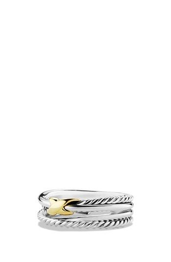 Free shipping and returns on David Yurman 'X Crossover' Ring at Nordstrom.com. Sterling silver and 18-karat yellow gold. 6mm wide. By David Yurman; imported.