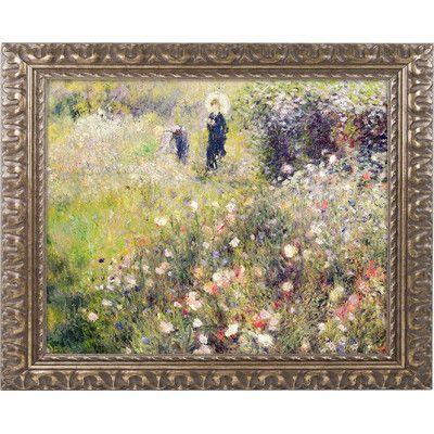 Trademark Fine Art Summer Landscape by Pierre Renoir Framed Painting Print
