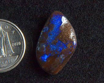Beautiful 10.19CT Australia polished boulder opal cabochon