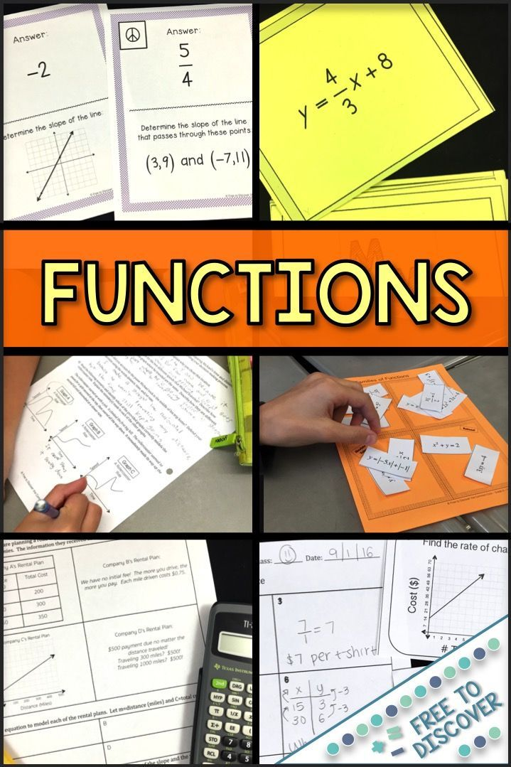 Functions Discovery Worksheets, Activities, and Games ...