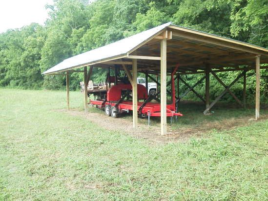 Free plans for building a firewood shed quick for Tractor garage plans
