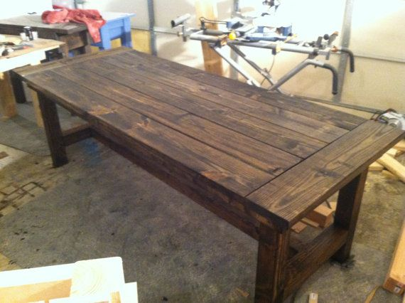 10 person farmhouse dining table by sawdustfurniture on for 12 foot long dining room table
