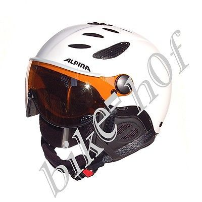 #Alpina ski #helmet jump jv visor white matt 3 #sizes,  View more on the LINK: 	http://www.zeppy.io/product/gb/2/351575670606/