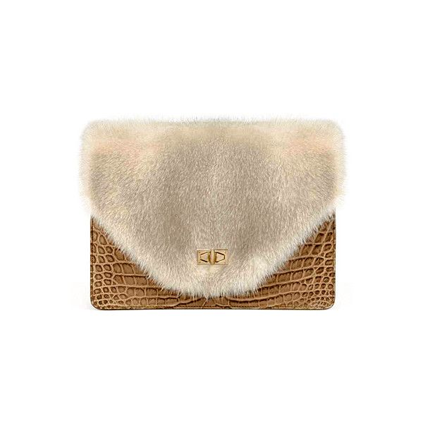 OOOK - Givenchy - Women's Accessories 2012 Pre-Fall - LOOK 17 |... ❤ liked on Polyvore featuring bags, handbags, clutches, purses, givenchy, fur, handbags purses, brown purse, givenchy handbags and hand bags