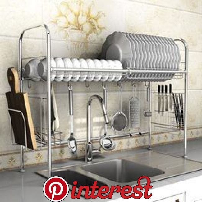 Kitchen Over Sink Dish Rack Storage Stand With Images Kitchen