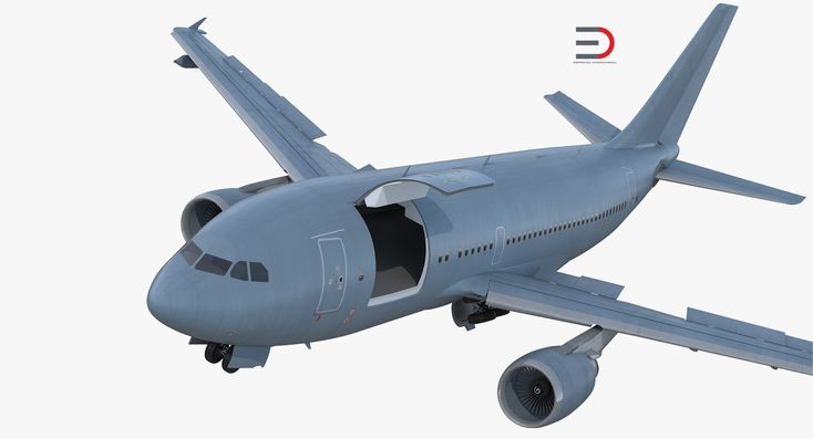 3D model Airbus A310 Multi Role Tanker Aircraft Transport Generic Rigged