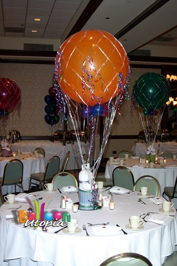 77 best images about balloons hot air balloon on pinterest for Air filled balloon decoration ideas
