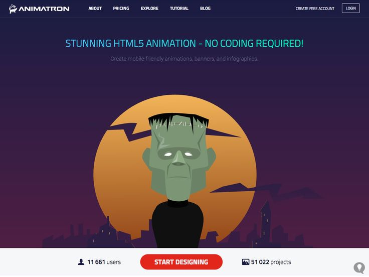 Really cool place to create mobile-friendly animations, banners, and infographics.