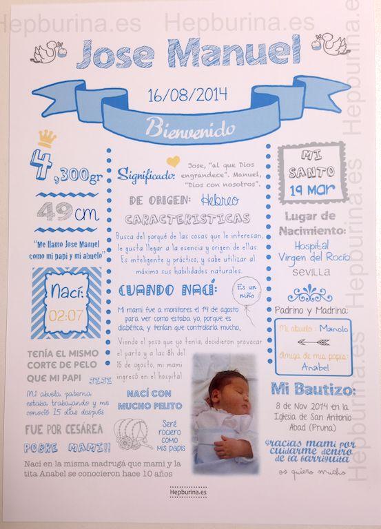 Hepburina: Lámina de nacimiento de Jose Manuel