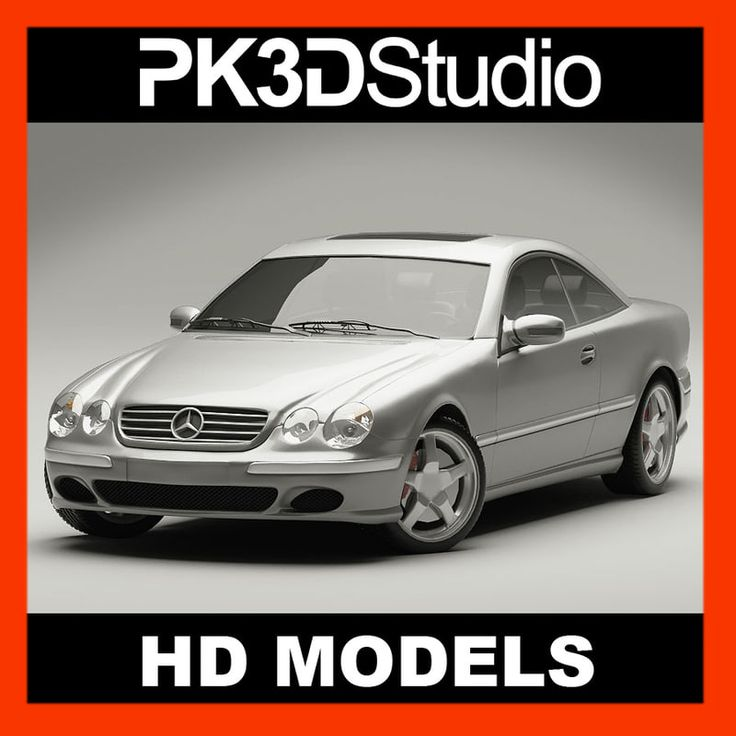 Mercedes Cl500 3D Model - 3D Model