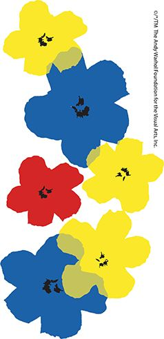 Iconic Andy Warhol flowers from the Andy Warhol Foundation add color to our Limited Edition #PopWrap Collection