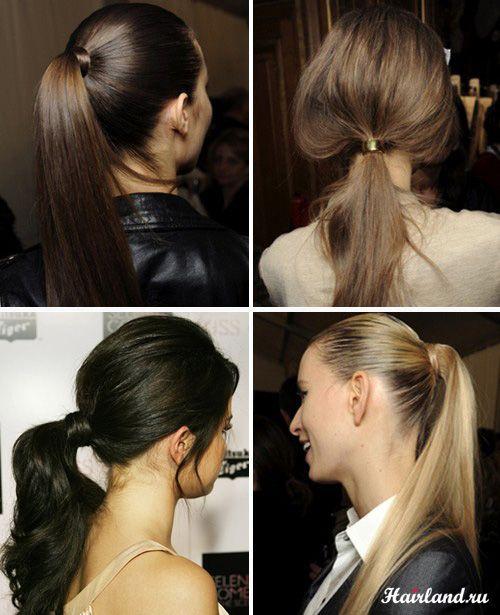 Повседневные прически на длинные волосы, высокий и низкий хвост