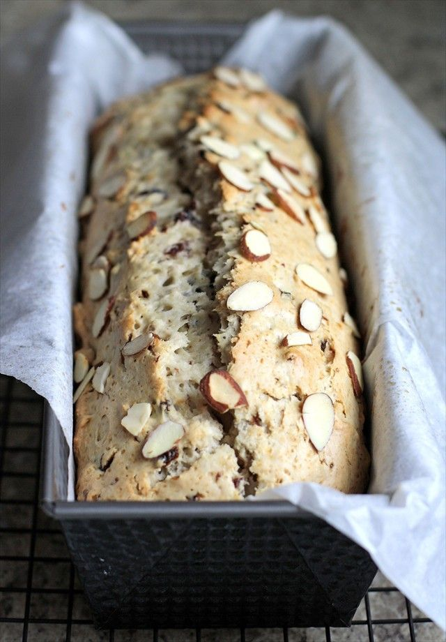 Cherry Nut Bread- a less sweet quick bread. PERFECT with hot chocolate.