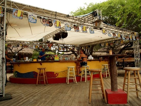 Moomba Beach Bar, the best place to waste the day away on Palm Beach, Aruba.