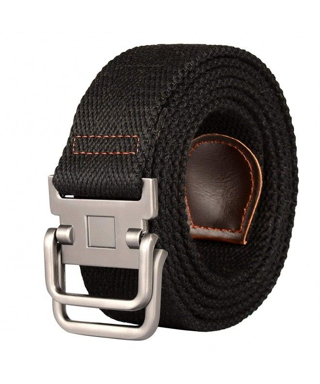 Plus Size 47 75 Long Double D Ring Mens Canvas Cloth Web Belt