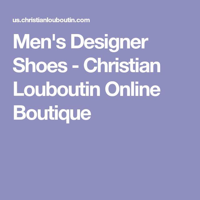 Men's Designer Shoes - Christian Louboutin Online Boutique