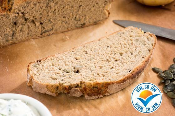 Bramborový celozrnný chléb