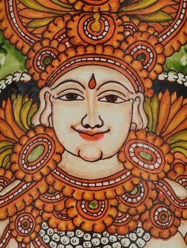 Buy Goddess Saraswati Bamboo Mural Painting Wall Art