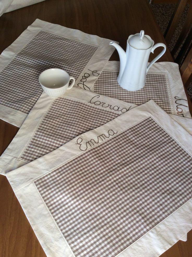 Tovagliette personalizzate per la colazione