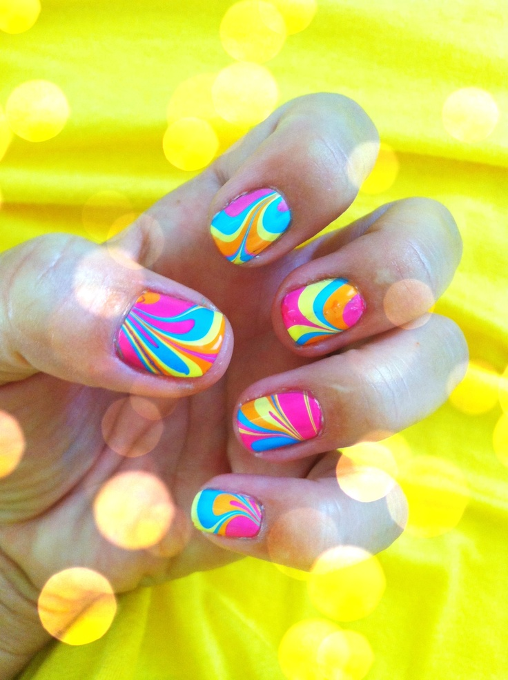 my summer nails Cool looking but looks time consuming