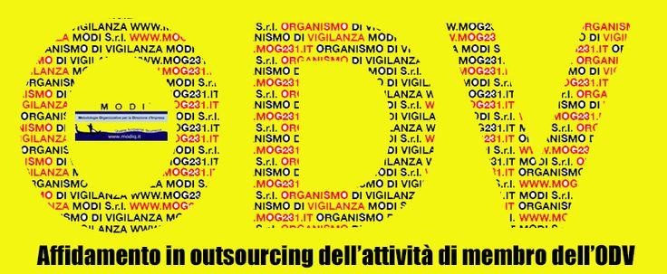 Ecco il logo creato dallo staff grafico di MODI S.r.l. sull'affidamento in outsourcing dell'attività di membro dell'Organismo di Vigilanza