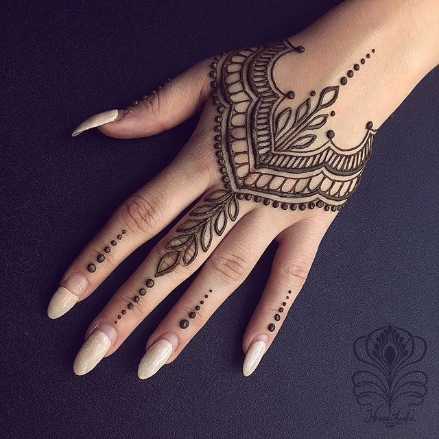 Hand Finger Henna Tattoo Designs Hand Simple Henna Tattoo Henna Tattoo Hand