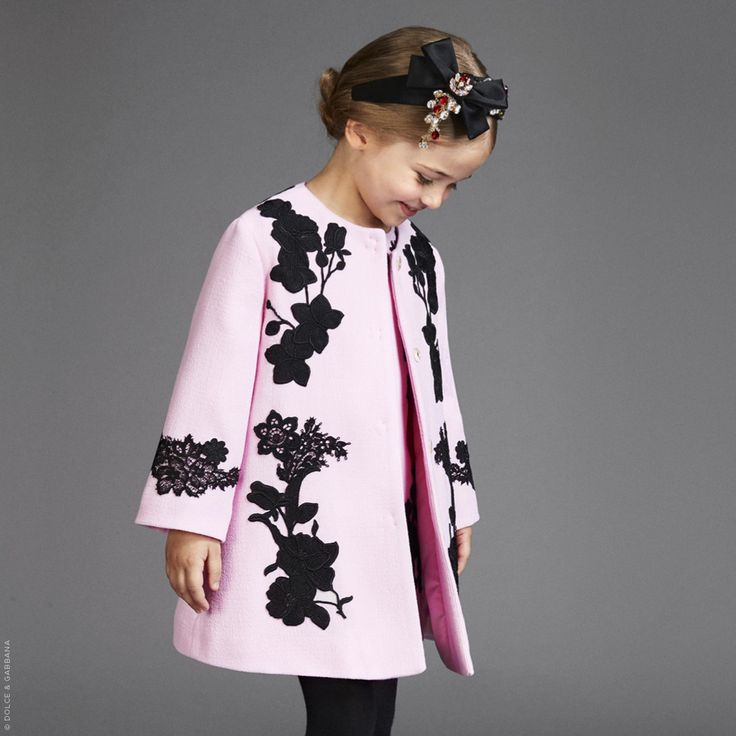 Wool crepe coat Dolce & Gabbana for girls | Melijoe.com