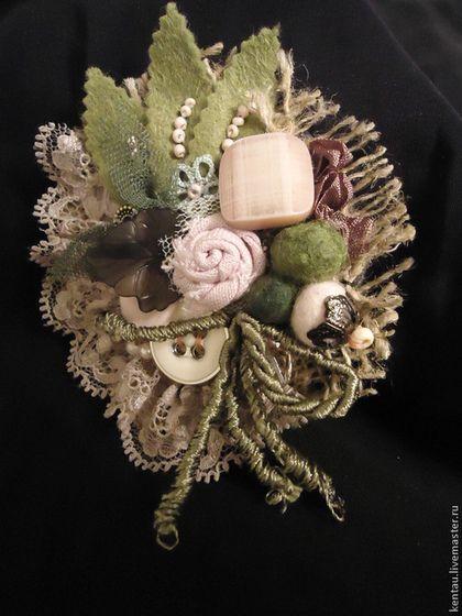 """Броши ручной работы. Ярмарка Мастеров - ручная работа Брошь """"Маленькая роза"""". Handmade."""