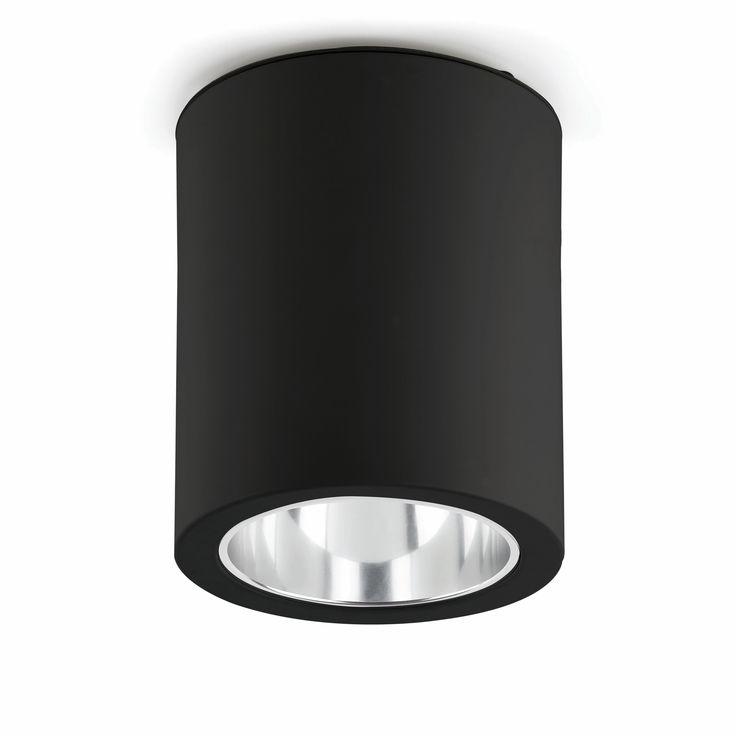 Spot de plafond Pote-1 noir en aluminium Livraison Gratuite