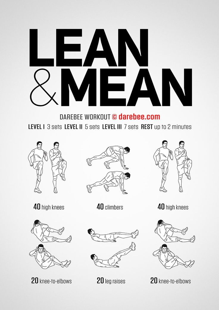 Lean & Mean workout. | Strength workout, Calisthenics ...