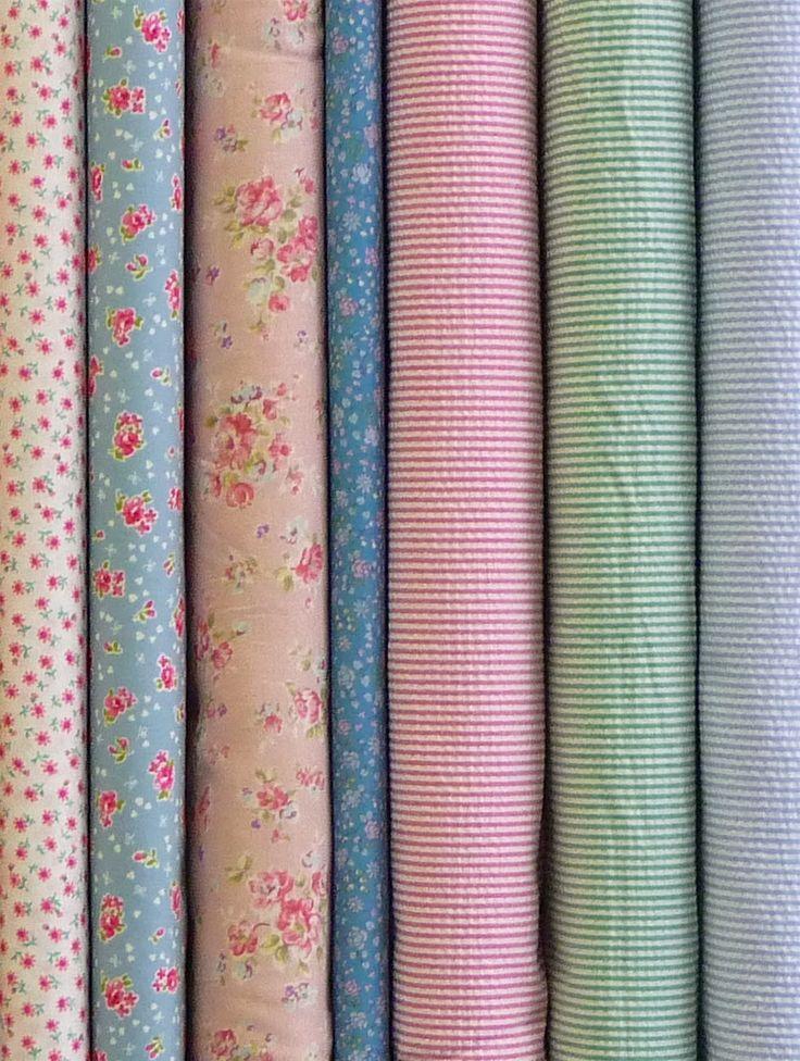 Soft pretty florals, in a range of base cloths. Double gauze, fine lawn & seersucker