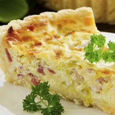 Quiche Lorraine...I have all the ingredients for this, except the bacon but we have Canadian bacon, which might be even better. Definitely making this for us tonight!