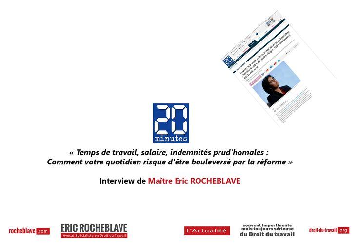 (Lire l'article original ici)   Éric ROCHEBLAVE Avocat au Barreau de Montpellier Spécialiste en Droit du Travail et Droit de la Sécurité Sociale http://www.rocheblave.com  Consultations par téléphone http://www.rocheblave.fr  L'Actualité du Droit du travail http://www.droit-du-travail.org