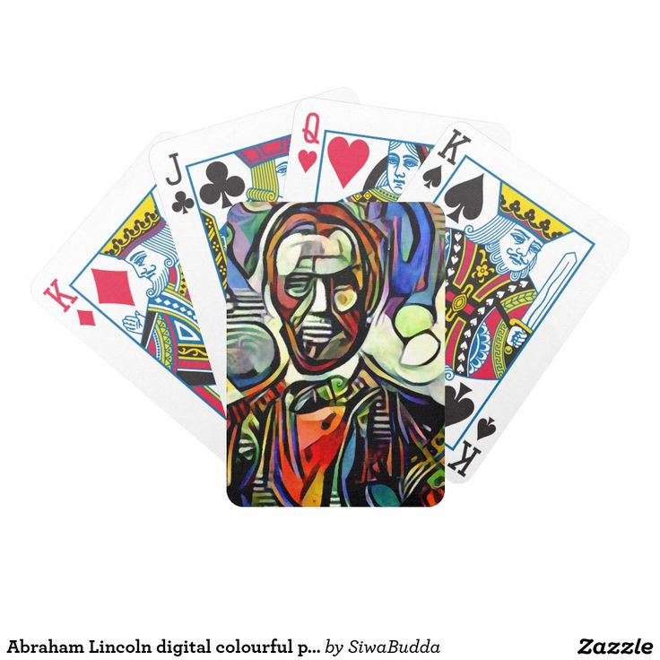 Abraham Lincoln digital colourful painting
