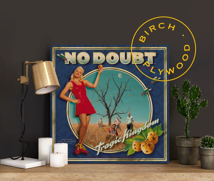 NO DOUBT: Tragic Kingdom - Album Art on Wood, Gwen Stefani, Tony Kanal, Adrian Young, Tom Dumont, No Doubt Band, Music Art, Music Poster by InHousePrinting on Etsy