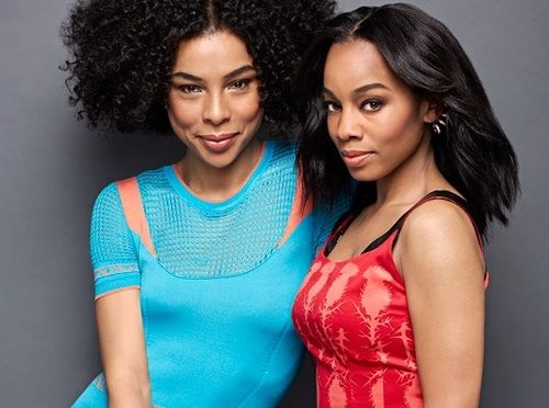 Actresses Sophie Okonedo and Anika Noni Rose for ELLE Magazine April 2014.