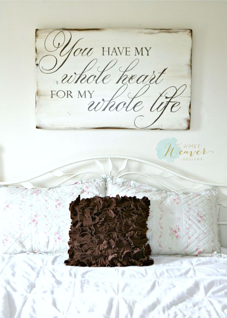 You have my whole heart for my whole life - wood sign by Aimee Weaver Designs